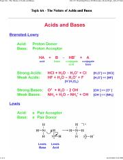 Topic_6A - The Nature of Acids and Bases