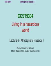Lecture 6 Tropical cyclones CCST