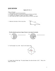 Quiz Review Trig Functions