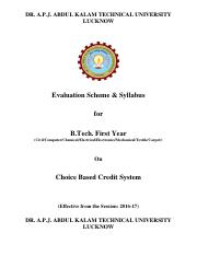 B. Tech. All Branch  Ist Scheme
