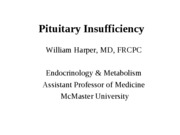Pituitary Insufficiency-no photos