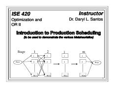 ise 420 intro to production scheduling f11