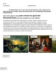 pinturas del romanticismo lab activity