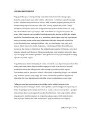 Laporan Reflektif Docx Laporan Reflektif Pengajian Malaysia 2 Mengandungi Banyak Maklumat Dan Bab Tentang Negara Malaysia Yang Banyak Saya Tidak Course Hero