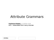 AttributeGrammars