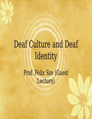 4TH Deaf Identity and Deaf Culture