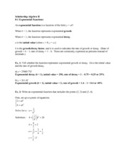 Exponent Functions Notes