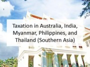 Taxation in many countries (Presentation)