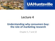 Lecture 4-2 (cont)-Consumer Research