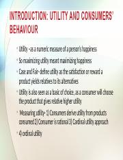 Chapter 4 Consumer Preference, behaviour and Choice 1