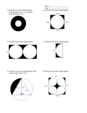 how to find the area of a shaded region parabola