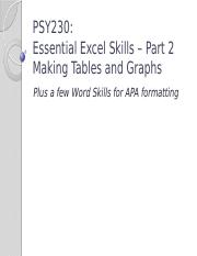 PSY230-W1-6-Tutorial Excel Tables Graphs APA.pptx