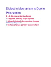 Dielectric Mechanism is Due to Polarization