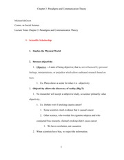 Chapter 3 - Paradigms and Communication Theory - Final