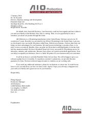 international business letter