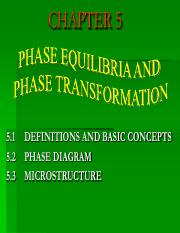 CHAPTER 5 PHASE DIAGRAM- Materials Science