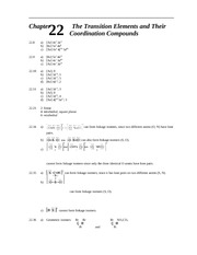 Homework I Solutions on Principles of Chemistry