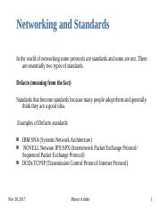 CSC 207 - 11 Networking Standards  & OSI model.ppt