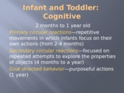 Infant and Toddler Cognitive posted