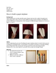 How to build a paper airplane-1