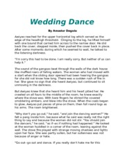 the wedding dance summary
