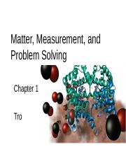 Chapter 1 Matter, Measurement, and Problem Solving(jc)