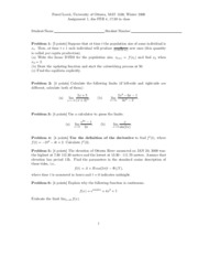 Calculus 1 - Assignment 1