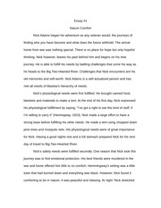 Big Two-Hearted River Essay