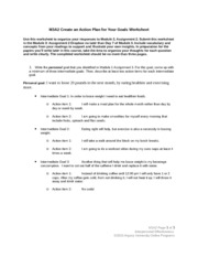 M3A2 Create an Action Plan for Your Goals Worksheet