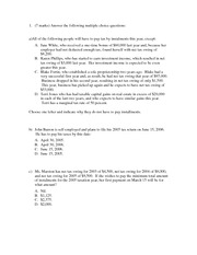 Tax 1 Test 1X Feb09