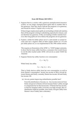 Econ 450 Winter 2015 HW 4 Solutions
