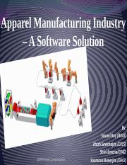 Apparel Manufacturing Industry – A Software Solution.pptx