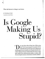 is google making us stupid 3 essay
