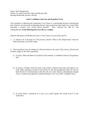 Lab 6-Confidence Intervals and Hypothesis Tests.docx