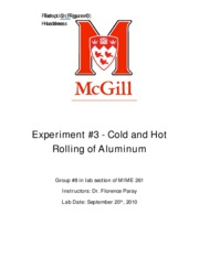 Cold and Hot Rolling of Aluminum