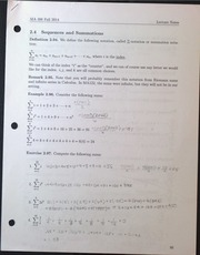 MA306 Sequences and Summations Lecture Notes