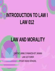 Lecture 3- Law and Morality.ppt