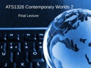 Contemporary Worlds Lecture Nation State.ppt