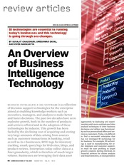 An Overview of Business Intelligence Technology