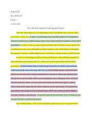 How did the Constitution Guard Against Tyranny.docx