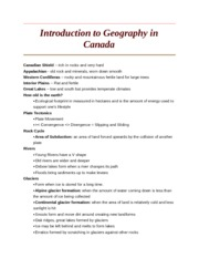 Introduction to Geography in Canada
