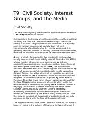 9 Civil Society, Interest Groups, and the Media.doc