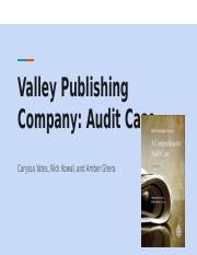 Valley Publishing Case Study-final presentation.pptx