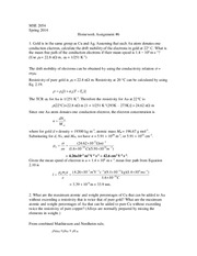Homework Assignment 6, Spring 2014 Solutions