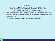 MKT 350 Chpater 8 Powerpoint