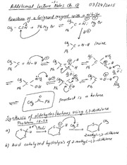 CHEM 2325-Chpater 18-Additional Lecture Notes-03-24-15