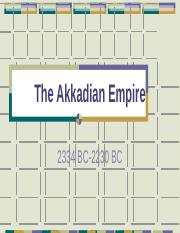 Chapter 3 P 5 Mesopotamia Akkadian Empire.pps