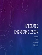 Integrated Engineering Lesson