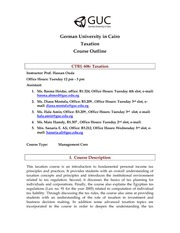 CTRL606 - Course Outline