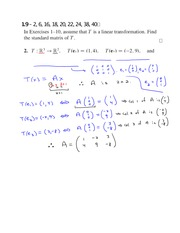 Assignment 1.9 Solutions on Linear Algebra Spring 2015
